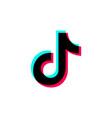 tik tok glitch icon social media on a white vector image vector image