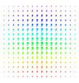 tulip icon halftone spectral effect vector image