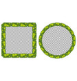 two grass frames on white background vector image vector image