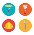 under construction equipment icons vector image vector image