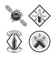 Vintage beer brewery emblems vector image vector image