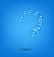 Water Drop Wall Question vector image vector image