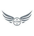 win wing logo simple gray style vector image vector image