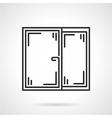 Window black line icon vector image vector image