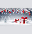 winter background with gifts vector image