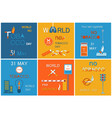 world no tobacco day set of posters stop smoking vector image