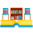 Colorful Chairs And Bookcase On Huge Book vector image