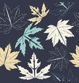 stylish seamless pattern with autumn leaves vector image