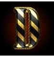 golden and black letter d vector image