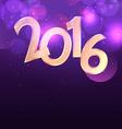 2016 design in purple bokeh background vector image vector image