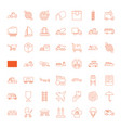 49 transport icons vector image vector image
