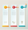 abstract 3 steps infographic template in 3d style vector image vector image