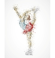 Abstract figure skater vector image vector image