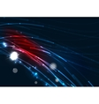 Abstract wave color glowing lines in dark space vector image vector image