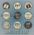 April Fools Day Labels and Icons vector image