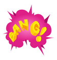 Bang speech bubble icon isometric style vector image