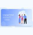 banner language school concept vector image