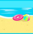 beach ball sea vector image
