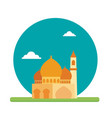 big mosque place of prayer to worship their god vector image vector image