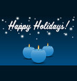 blue candle with fire vector image