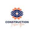 brick construction inspiration logo vector image vector image