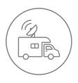 Broadcasting van line icon vector image vector image