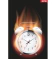 Burning alarm clock vector image