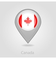 Canada flag pin map icon vector image vector image