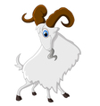 Cartoon happy animal goat vector image vector image