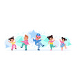 children dancing happy kids move to melody vector image