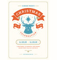 christmas party invitation retro typography vector image vector image