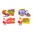 christmas sale banner template with classic santa vector image vector image