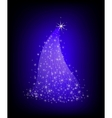 Christmas violet tree with stars vector image vector image