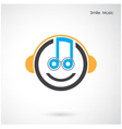 Creative abstract musical design vector image vector image
