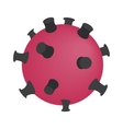 Dangerous virus isometric 3d icon vector image vector image