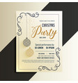 decorative christmas party flyer with creative vector image
