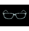 Diamond Glasses vector image vector image