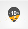 discount percent pointer icon vector image vector image