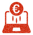 euro financial startup icon grunge watermark vector image vector image