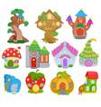 fantasy house cartoon fairy treehouse and vector image vector image