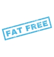 Fat Free Rubber Stamp vector image vector image
