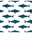 Fishes seamless pattern vector image vector image