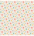 flower sheet hand drawn seamless pattern vector image