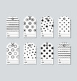 gift tags and cards set with hand drawn elements vector image