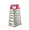 grater metallic kitchenware color vector image vector image