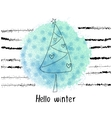 grunge Hellow winter concept vector image vector image