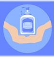hand sanitizer bottle for hygienesymbol vector image vector image