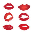lips collection vector image