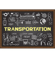 Logistics on chalkboard vector image vector image