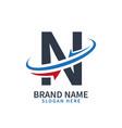 logo letter n design template letter n vector image vector image
